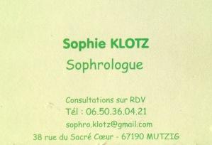Carte visite Sophie
